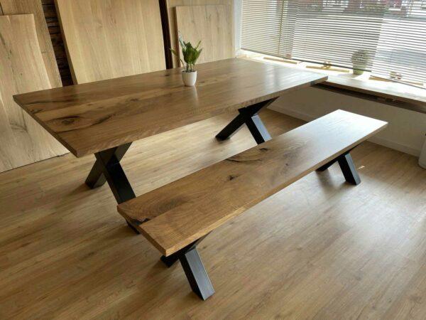 Möbel-Natur-Komfort   Tisch-Bank-Kombination aus Eiche