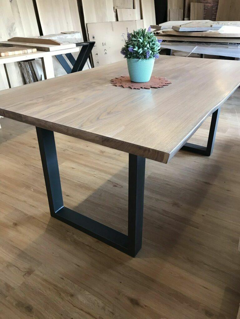 Möbel-Natur-Komfort | Tisch aus Eiche mit 2 Ansteckplatten
