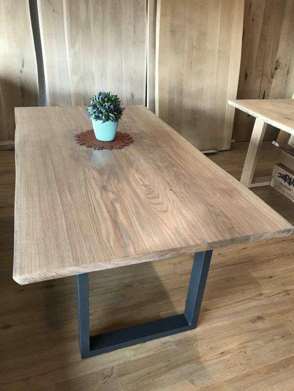Möbel-Natur-Komfort   Tisch aus Eiche mit 2 Ansteckplatten